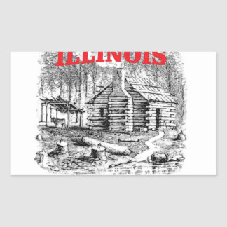 Illinois land of Lincoln Sticker