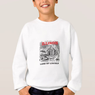 Illinois land of Lincoln Sweatshirt