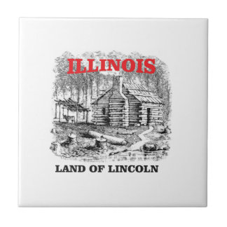 Illinois land of Lincoln Tile