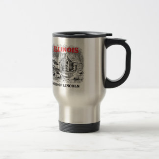 Illinois land of Lincoln Travel Mug