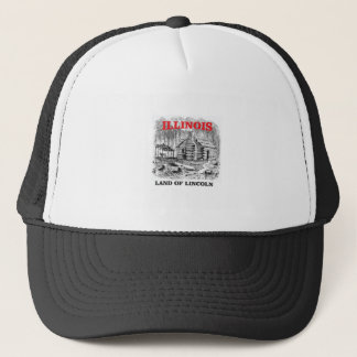 Illinois land of Lincoln Trucker Hat