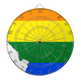Illinois LGBT Flag Map Dartboard