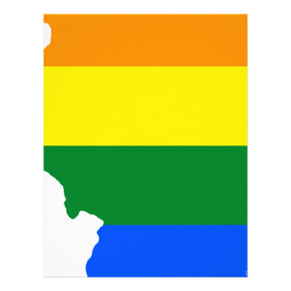 Illinois LGBT Flag Map Letterhead