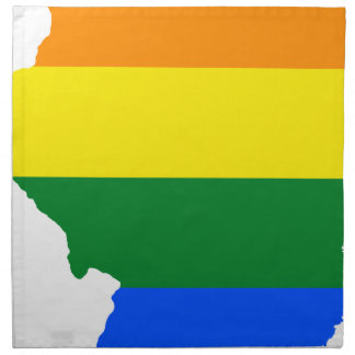 Illinois LGBT Flag Map Napkin