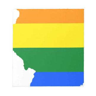 Illinois LGBT Flag Map Notepad