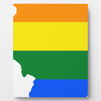 Illinois LGBT Flag Map Plaque