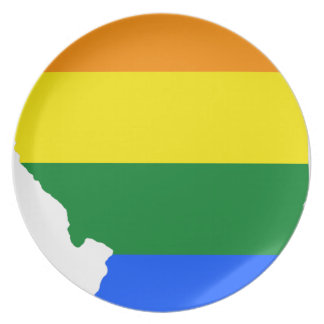 Illinois LGBT Flag Map Plate
