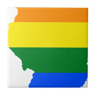 Illinois LGBT Flag Map Tile