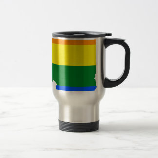 Illinois LGBT Flag Map Travel Mug