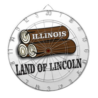 Illinois logs of Lincoln Dartboard