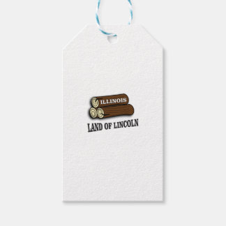 Illinois logs of Lincoln Gift Tags