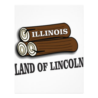 Illinois logs of Lincoln Letterhead