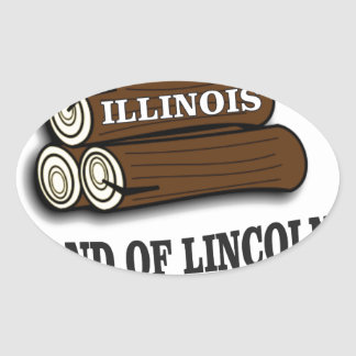 Illinois logs of Lincoln Oval Sticker