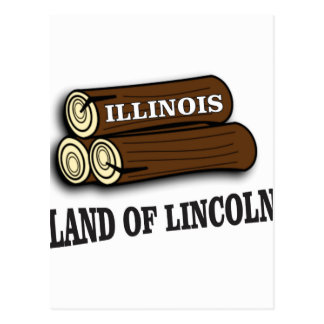 Illinois logs of Lincoln Postcard