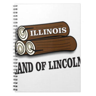 Illinois logs of Lincoln Spiral Notebook