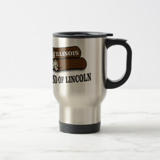 Illinois logs of Lincoln Travel Mug