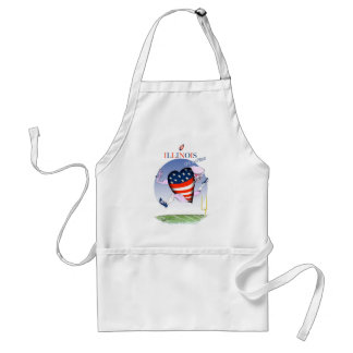 illinois loud and proud, tony fernandes standard apron