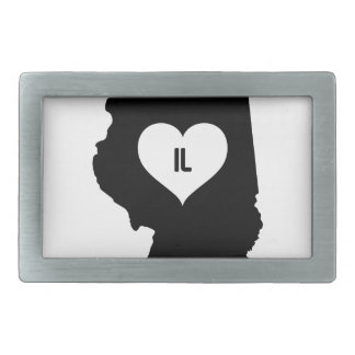 Illinois Love Belt Buckle