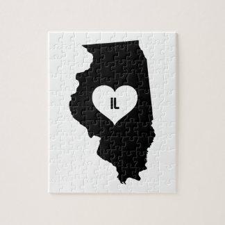 Illinois Love Jigsaw Puzzle
