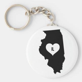 Illinois Love Keychain