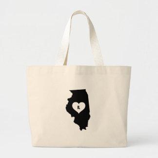 Illinois Love Large Tote Bag