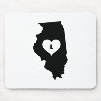 Illinois Love Mouse Pad