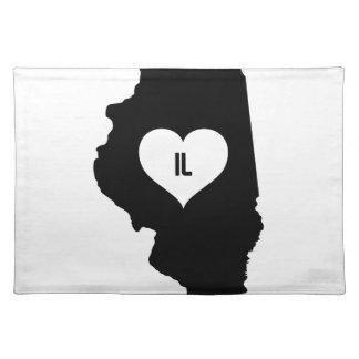 Illinois Love Placemat