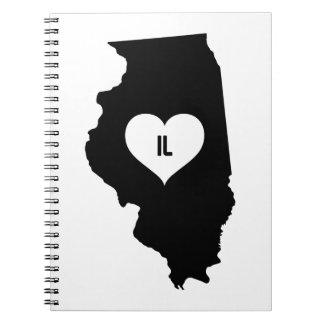 Illinois Love Spiral Notebook
