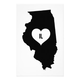 Illinois Love Stationery