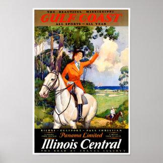 Illinois Mississippi Restored Vintage Poster