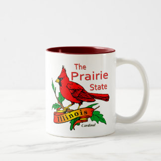 Illinois Prairie State Cardinal Two-Tone Coffee Mug