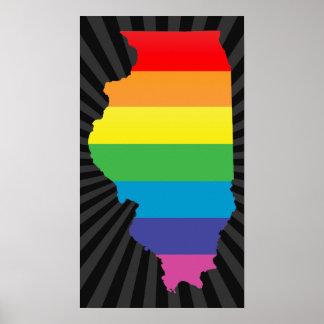illinois pride. poster