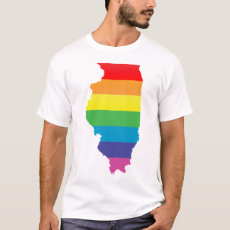 illinois pride. striped. T-Shirt