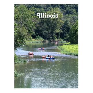 Illinois Rafting Postcard