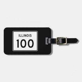Illinois Route 100 Luggage Tag