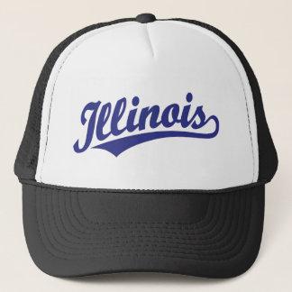 Illinois script logo in blue trucker hat
