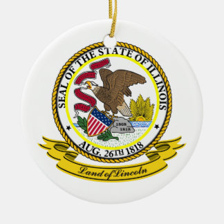 Illinois Seal Ceramic Ornament