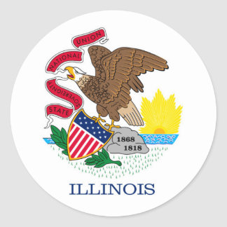 Illinois State Flag Design Classic Round Sticker