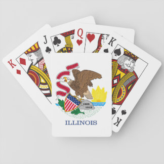 Illinois State Flag Design Poker Deck