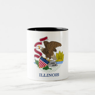 Illinois State Flag Two-Tone Coffee Mug