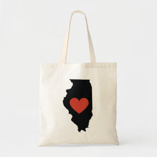 Illinois State Love Book Bag or Travel Tote