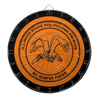 Illinois State Politicians Prison Dartboard