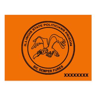 Illinois State Politicians Prison Postcard