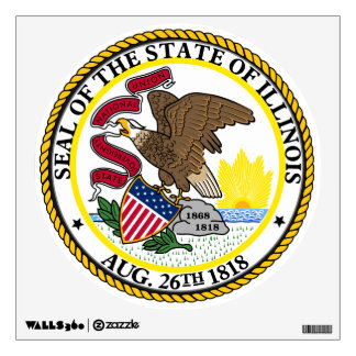 Illinois State Seal Wall Sticker