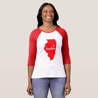 Illinois Teacher Tshirt (Red)