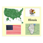 Illinois, USA Postcard
