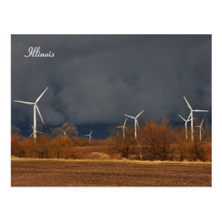 Illinois Windmills Postcard