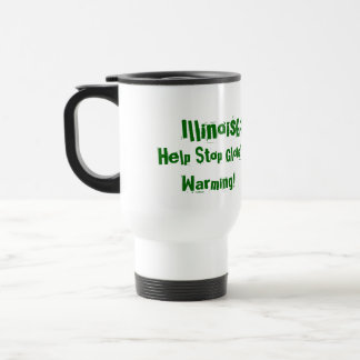 IllinoisGoGreen.org, Change Your Thinking!, Hel... Travel Mug