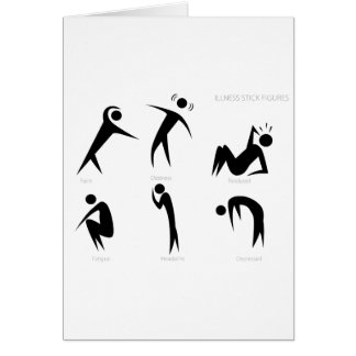 Illness Stick Figures Set Card
