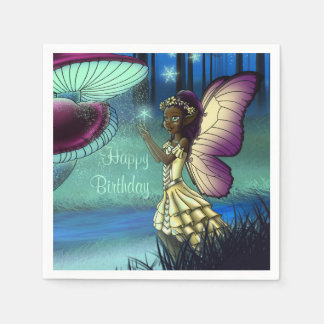 Illuminate Birthday Paper Napkins, Fairy Paper Napkins